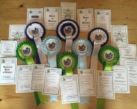 Rosettes From The Combined Canine Club Show April 2015